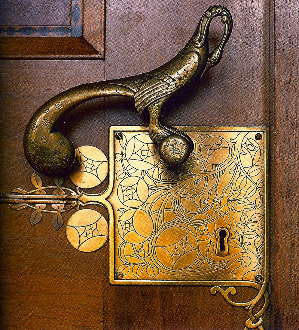 Door handle by franz von stuck on the entrance to the for Door lock germany
