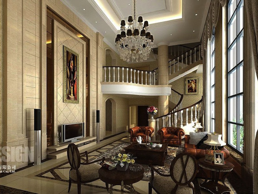 Elegance chinese interior design classic chinese living for Interior design living room elegant